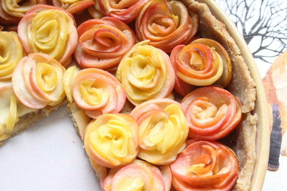 tarte à la pomme rose