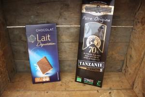 épicerie chocolat au lait vs chocolat noir