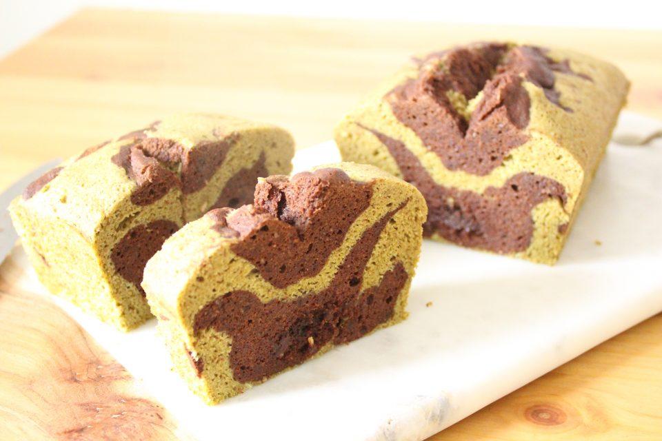 cake matcha chocolat noir