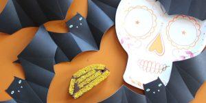 Le roulé au curcuma et chocolat noir d'Halloween
